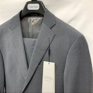Calvin Klein Mabry Two Button Gray Slim Fit Suit